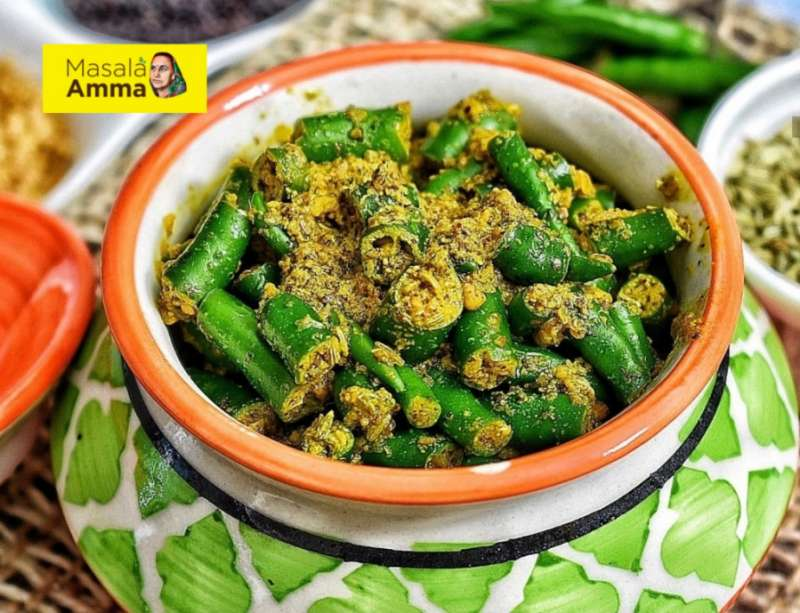 masala amma green chilli pickle